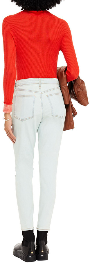 Thumbnail for your product : Rag & Bone Cropped Distressed High-rise Skinny Jeans