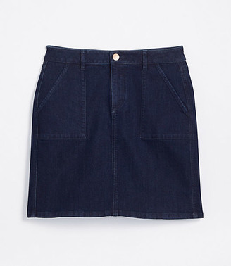 LOFT Petite Denim Utility Skirt