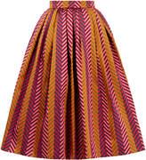 House of Holland Jacquard Midi Skirt