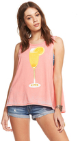 Chaser Mimosas All Day Tank in Flamingo