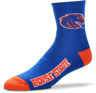 For Bare Feet Adult Boise State Broncos Team Color Quarter-Crew Socks