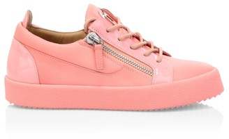 Giuseppe Zanotti Gail Double-Zip Leather Sneakers