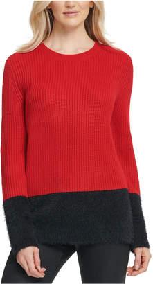 DKNY Faux-Fur-Trim Sweater