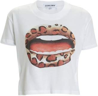 Shonna Drew Cropped Lips Graphic T-Shirt