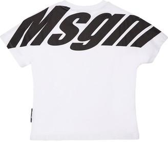 MSGM Printed Cotton Jersey T-Shirt