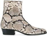 Maison Margiela Replica python skin print boots
