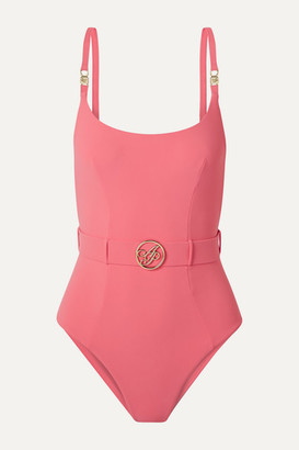 Agent Provocateur Laurella Belted Swimsuit - Pink