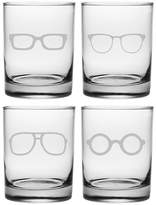Susquehanna Glass 4pc Spectacles Double Old-Fashioned Glasses