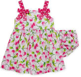 Bonnie Jean Sleeveless Pink Cherry Sundress - Baby Girls newborn-24m