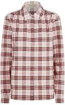 Burberry Brambling Check Lace Collared Shirt