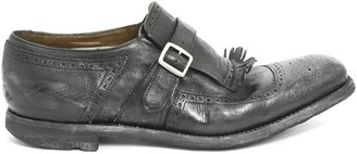 Church's Churchs Shanghai Black Calf Leather Monk Strap