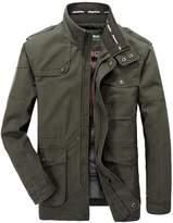 Nyngei Men's Gentleman Winter Jackets Warm Tops Warm Outdoors Coat Military Style (L, )