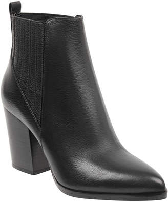 Marc Fisher Alva Leather Pleated Chelsea Booties