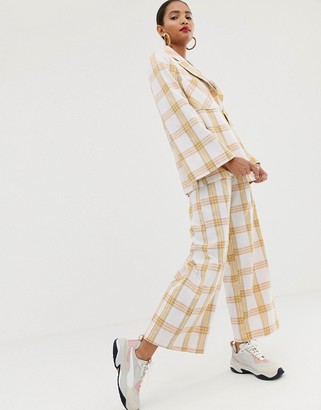 ASOS check suit pants