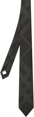 Burberry Mulberry Silk Check Tie