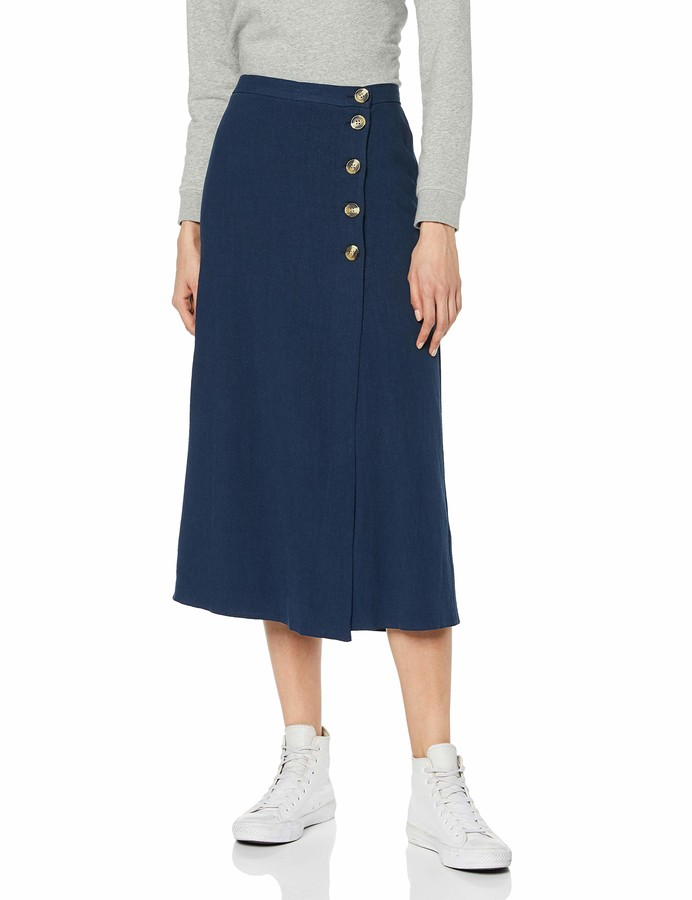 New Look Women's Bermuda Button Skirt