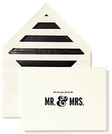 Kate Spade Bridal Note Card Set - Thank You Mr. & Mrs.