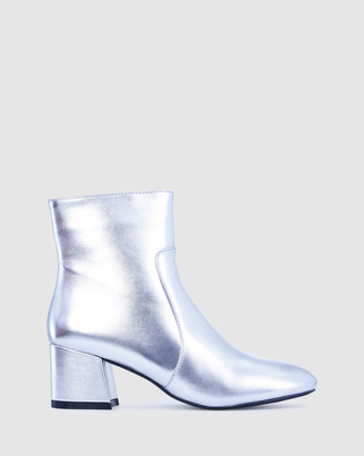 Los Cabos - Women's Silver Heeled Boots - Stevie - Size One Size, 37 at The Iconic