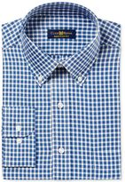 Club Room Men's Big and Tall Fit Twill Block Check Dress Shirt, Created for Macy's