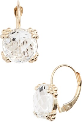 Anzie Dew Drop White Topaz Cluster Drop Earrings
