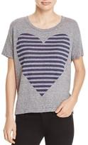 Sundry Stripe Heart Tee