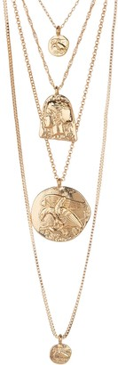 Olivia Welles Chloe Multi-Layer Pendant Necklace