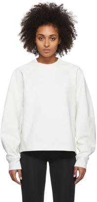 Y-3 Y 3 White Logo Crewneck Sweatshirt