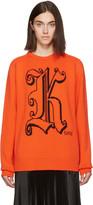 Christopher Kane Orange Wool kane Sweater