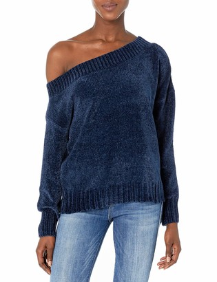 Three Dots Women's UC2716 Chenille Sweaters Off The Shoulder