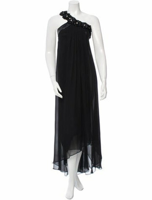 Matthew Williamson Embellished Evening Dress Black