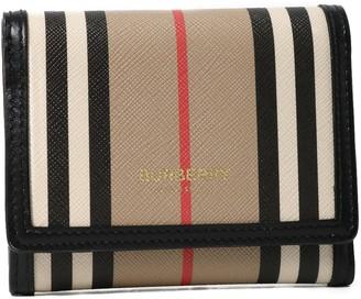 Burberry Striped E-canvas Wallet