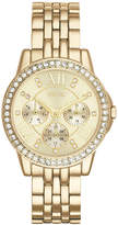 JCPenney RELIC Relic Womens Crystal-Accent Gold-Tone Bracelet Watch ZR15754