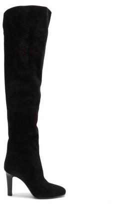 Saint Laurent Jane Over-the-knee Suede Boots - Black