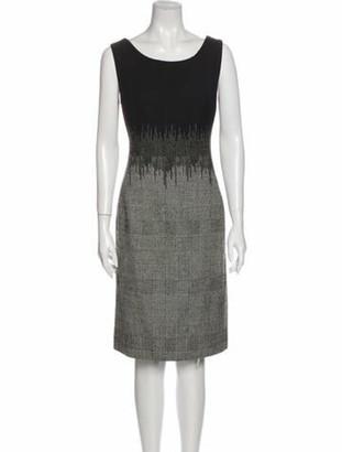 Oscar de la Renta 2014 Knee-Length Dress Wool