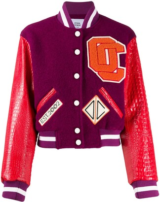 Opening Ceremony Cropped Varsity Jacket