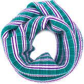 Pleats Please Issey Miyake striped plissé scarf