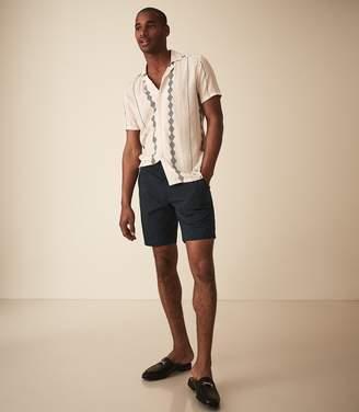Reiss Jester - Seersucker Striped Shorts in Navy