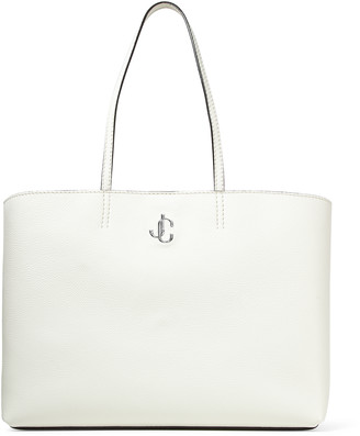 Jimmy Choo NINE2FIVE E/W Latte Grainy Calf Tote Bag with JC Logo