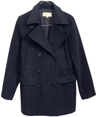 Michael Kors Blue Wool Coat for Women