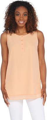 Linea by Louis Dell'Olio Henley Swing Sleeveless Top