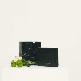 Sandro Grained Leather Card Holder
