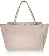 Valentino The Rockstud Medium Leather Trapeze Bag - Blush