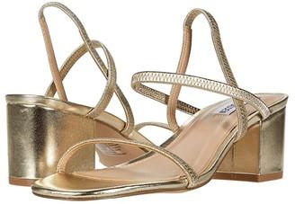 Steve Madden Inessa Heeled Sandal (Gold) Women's Shoes