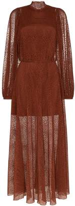 Beaufille Picasso high-neck sheer dress