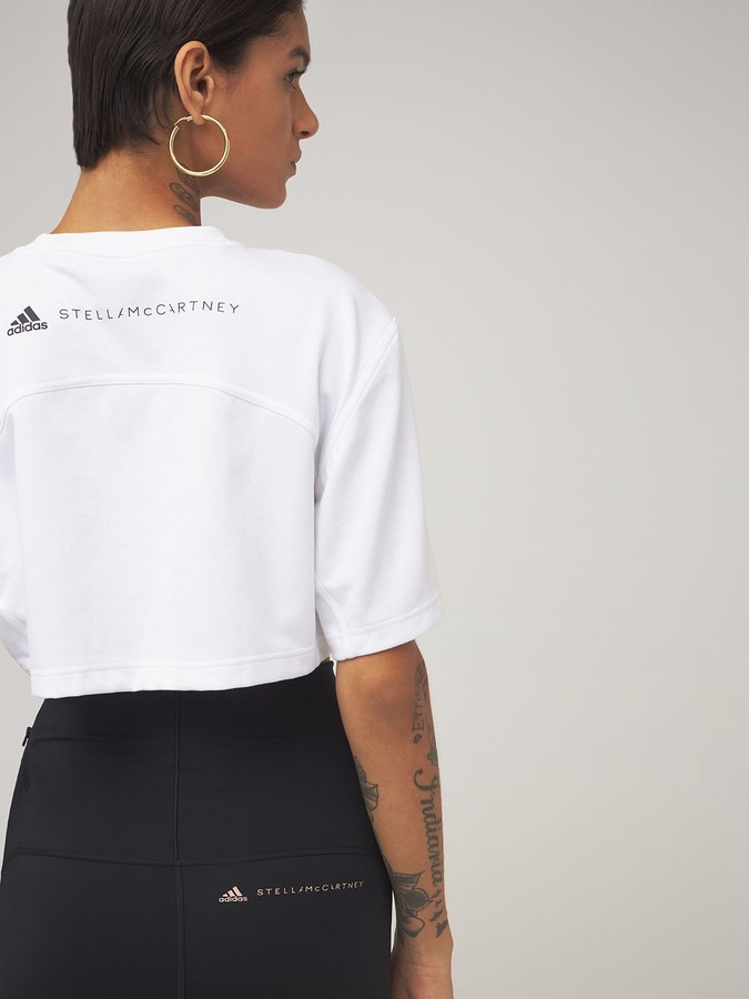 Thumbnail for your product : adidas by Stella McCartney Asmc Future Playground Cropped T-shirt