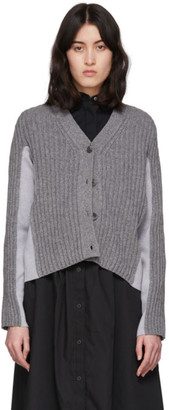 Maison Margiela Grey Shadow Cardigan