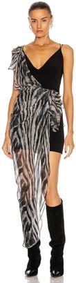 IRO Lusk Dress in Black Zebra Washed Grey | FWRD