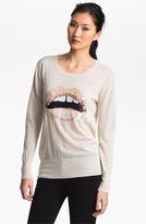 Markus Lupfer Sequin Lip Sweater Blush Large