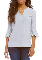 Westbound Y-Neck Bell Sleeve Tunic