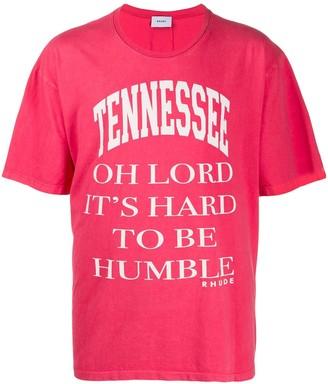 Rhude slogan print T-shirt